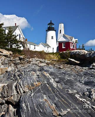 Photograph - Pemaquid Point Lighthouse Maine 3 by Glenn Gordon