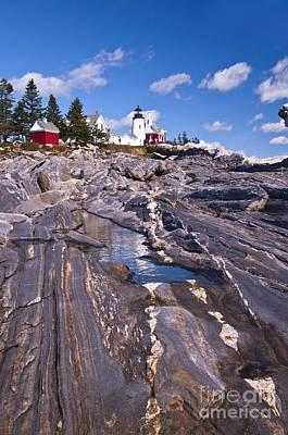 Photograph - Pemaquid Point Lighthouse Maine 5 by Glenn Gordon