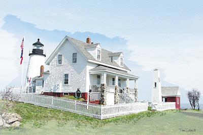 Pemaquid Point Lighthouse Original by Tom Schmidt