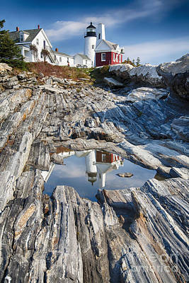 Pemaquid Point Reflections Art Print by George Oze