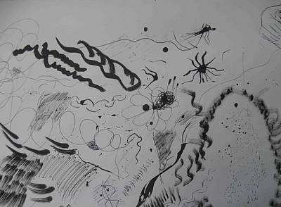 Drawing - Pen And Ink Six by AJ Brown