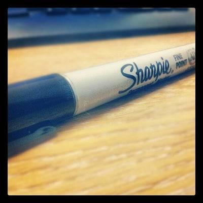 #pen #sharpie #art #macro #photography Art Print