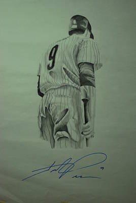 Hunter Pence Drawing - Pence 9 by Leo Artist