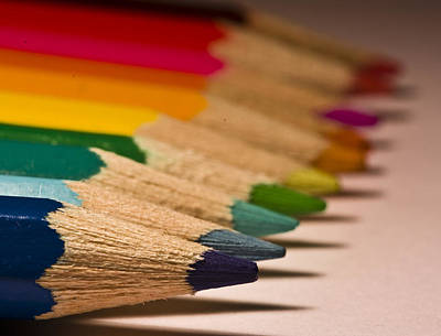 Photograph - Pencil Rainbow by Dr David James Killock