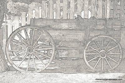 Photograph - Pencil Wheels by Diane montana Jansson