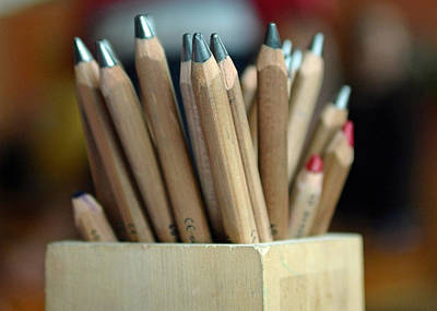 Photograph - Pencils by Lisa Phillips