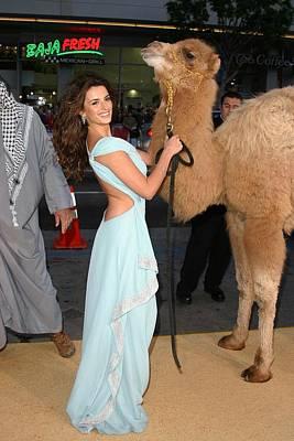 Penelope Cruz Photograph - Penelope Cruz, Camel At Arrivals by Everett
