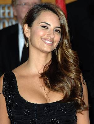 Diamond Earrings Photograph - Penelope Cruz Wearing Yossi Harari by Everett