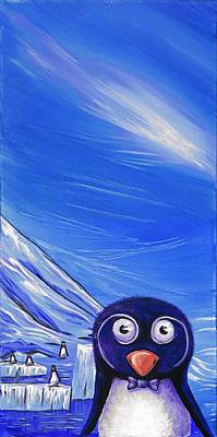 Painting - Penguin by David Junod