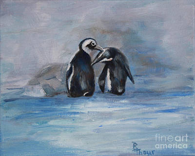 Painting - Penguins by Brenda Thour