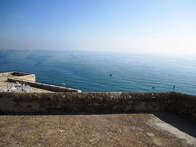 Photograph - Peniscola Castle Ocean View In Spain by John Shiron