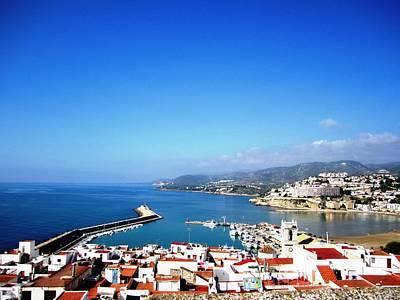 Photograph - Peniscola Marina Beach By Mediterranean Sea In Spain by John Shiron