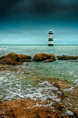 Lighthouse Digital Art - Penmon Point by Adrian Evans