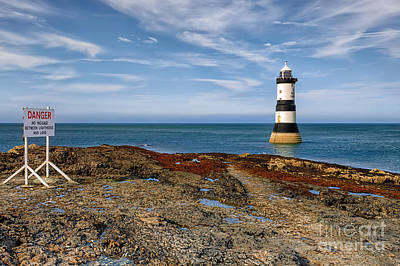 Lighthouse Digital Art - Penmon Point Lighthouse by Adrian Evans