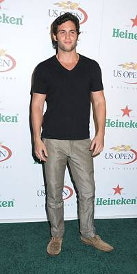 Us Open Photograph - Penn Badgley At Arrivals For Usta by Everett