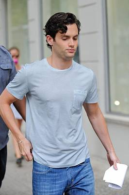 Out And About Photograph - Penn Badgley, Walks To The Gossip Girl by Everett