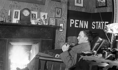 Vintage Photograph - Penn State Professor by Rob Gates