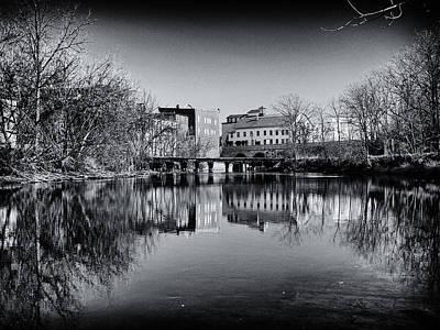 Penn Yan Bridges In Black And White Print by Joshua House