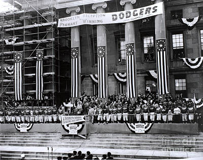Pennant-winning Reception Print by Photo Researchers, Inc.