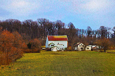 Pennsylvaina Farm Scene Art Print by Bill Cannon