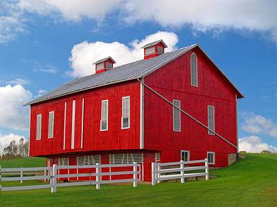 Pennsylvania Dutch Red Barn Print by Brian Mollenkopf