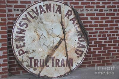 Pennsylvania Railroad Signe Art Print