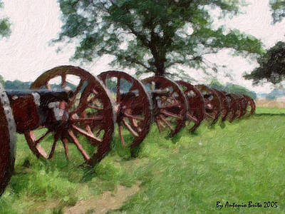 Pennsylvania's Confederate Cannon Art Print by Antonio Brito