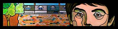 Glass Block Windows Painting - Penny Lane by Jim Harris