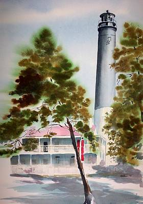 Painting - Pensacola Light by Richard Willows