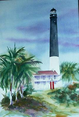 Painting - Pensacola Lighthouse by Richard Willows
