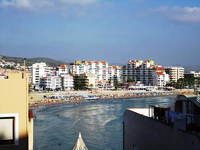Photograph - Pensicola Beach Ocean View From High Above In Mediterranean Sea Spain by John Shiron