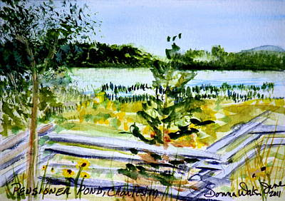 Walsh Painting - Pensioner Pond In Charleston Vermont by Donna Walsh