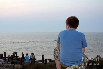Photograph - Pensive Beach Teen Boy 2 by Susan Stevenson