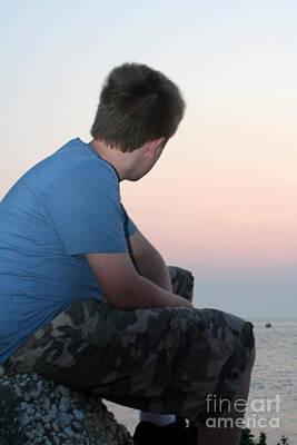Photograph - Pensive Beach Teen Boy 4 by Susan Stevenson