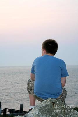 Photograph - Pensive Beach Teen Boy by Susan Stevenson