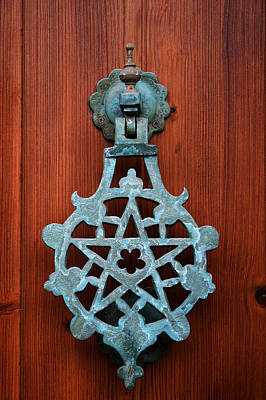 Pentagram Photograph - Pentagram Knocker by Fabrizio Troiani
