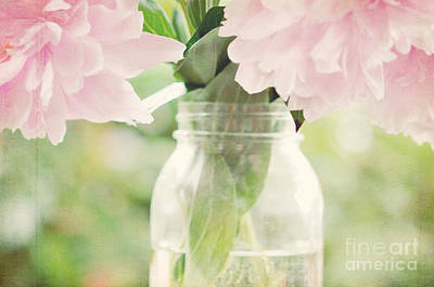 Pottery Barn Style Photograph - Peonies by Kim Fearheiley