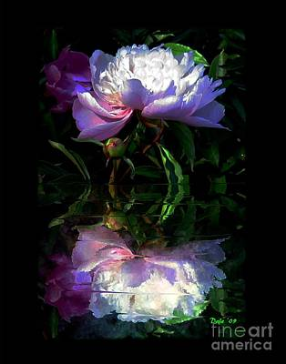 Digital Art - Peony Reflected by Dale   Ford