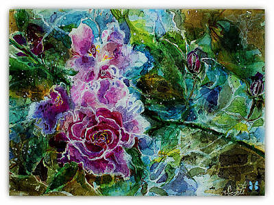 Mary Sonya Conti Painting - Peony Sonnet by Mary Sonya  Conti