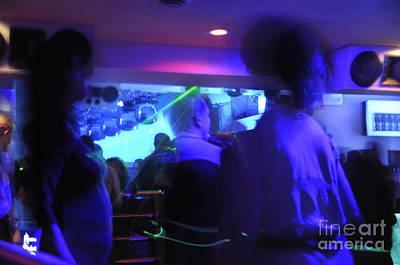 People Dancing And Light Effects In Discotheque Art Print