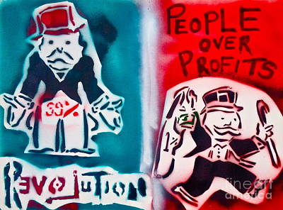 Free Speech Painting - People Over Profits by Tony B Conscious