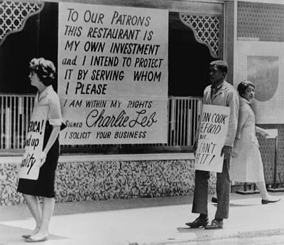 People Picketing Outside An Atlanta Art Print by Everett