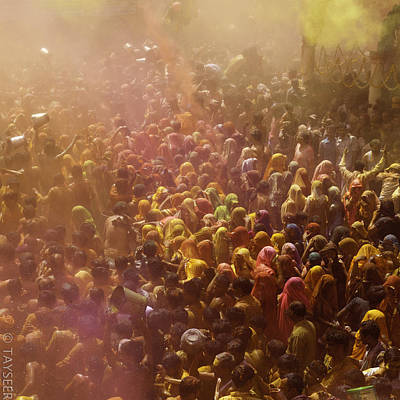 Festivals Of India Photograph - People Playing Holi by Tayseer AL-Hamad