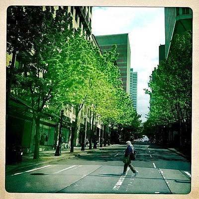 Money Wall Art - Photograph - #people #street #city #seattle #trees by Kee Yen Yeo