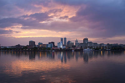 Peoria Skyline Art Print by Straublund Photography