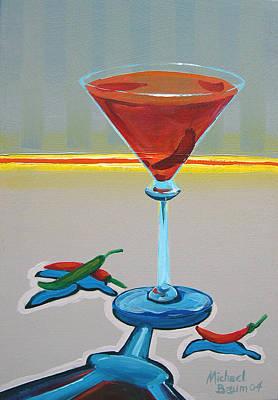 Peppar Martini Art Print by Michael Baum