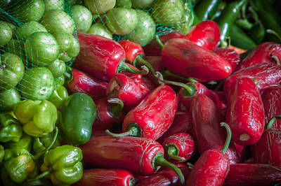 Photograph - Pepper Colors At The Market by James Woody