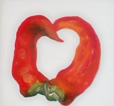 Pepper Heart Art Print by Joni McPherson