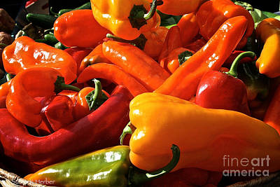 Pepper Palooza Art Print by Susan Herber