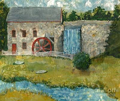 Painting - Pepperidge Farm Gristmill by Lynn Babineau